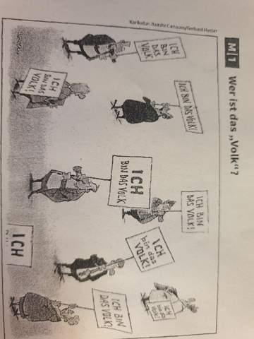 Wer ist das Volk Karikatur?