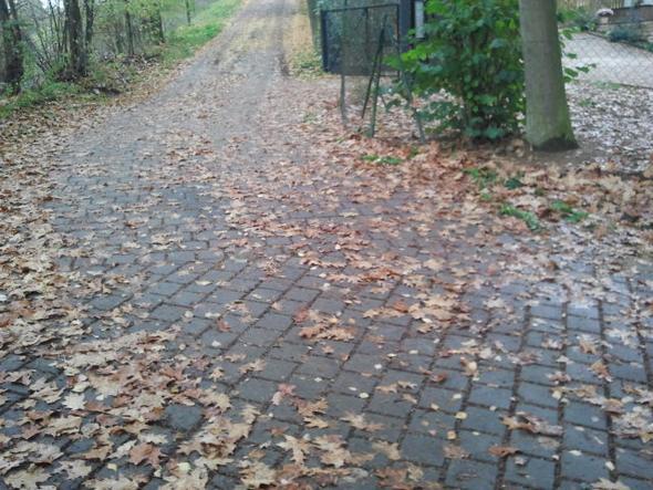 2. Teilstrecke, Kurve bis Eingangstor zum Mietshaus - (Haftung, Winterdienst, Privatweg)