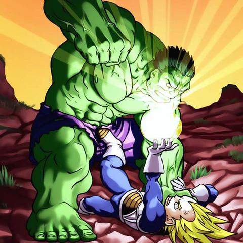 Hulk VS Son Goku  - (Kampf, hulk, goku)
