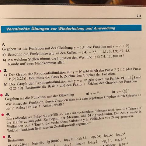 Aufgabe 2 - (Mathematik, Graphen, exponentialfunktion)