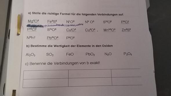- (Chemie, Aufgabe, Formel)