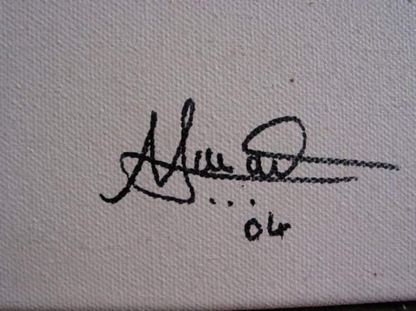 Wer kann diese Unterschrift lesen bzw. weiss etwas über den Maler bzw. Malerin?