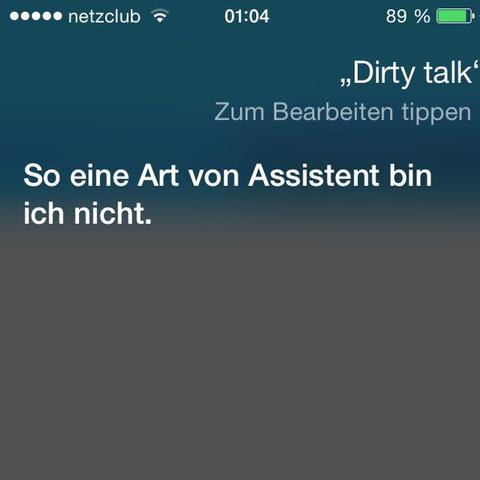 Dirty Talk - (lustig, siri)
