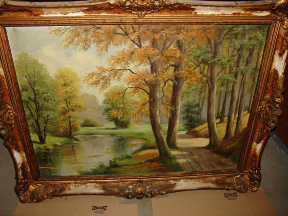 Frontansicht - (Maler, Leinwand, Landschaft)