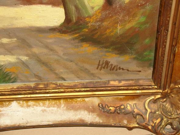 Signatur - (Maler, Leinwand, Landschaft)