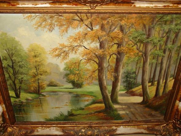 Frontansicht 2 - (Maler, Leinwand, Landschaft)