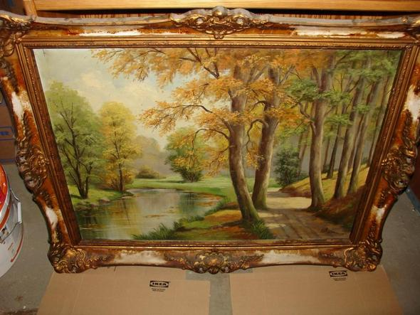 Frontansicht 3 - (Maler, Leinwand, Landschaft)