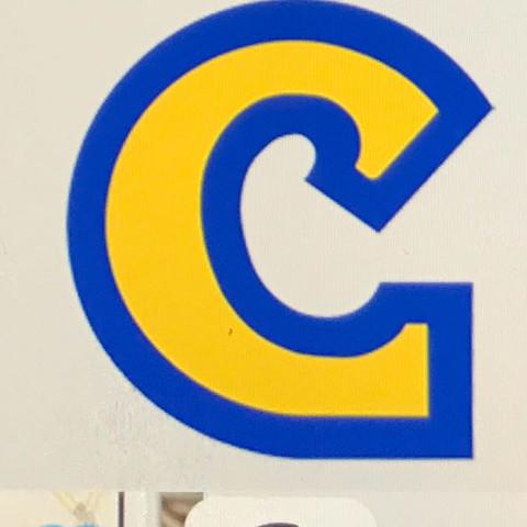 Großes C innen gelb außen blau  - (Bilder, Logo)