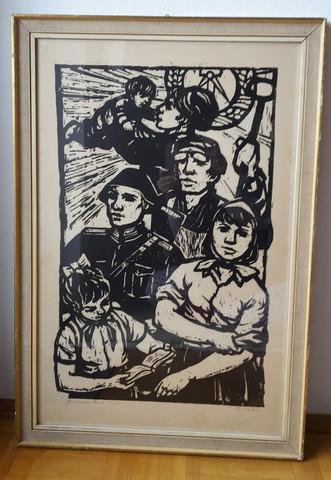 Wer kennt diesen Kunstdruck von Klaus Weber aus der DDR und was könnt er Wert sein?