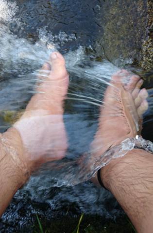 Wer lässt auch so gerne das Wasser eines Flusses oder Baches um die Füße plätschern?