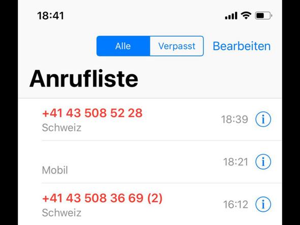 Wer ruft mich hier an? (Ausland, Telefon, Betrug)