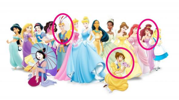 Geliefde Wer sind diese Disney Prinzessinnen? (Namen, Prinzessin) RD76