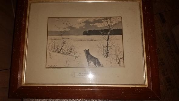 In winternoth  nach Gemälde a. Mailick - (Wert, wie alt)