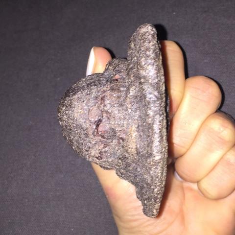 seitlich - (Steine, Meteorit)