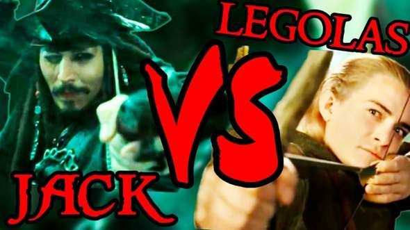 Wer Würde Gewinnen: Legolas VS Captain Jack Sparrow?