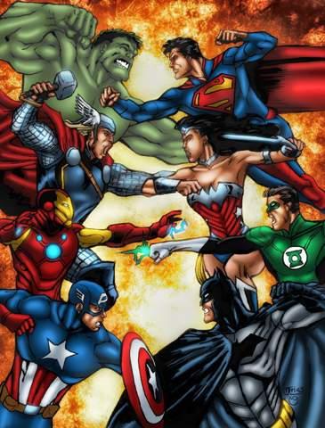 Wer Würde Gewinnen: Justice League VS Avengers?