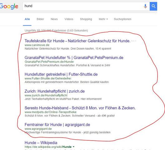 werbung - (PC, Google, Fehler)