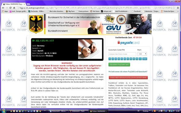 Oberer Teil der Homepage, ohne Banner - (PC, Internet, Polizei)