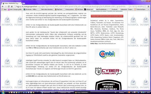 Unterer Teil der Homepage, ohne Banner - (PC, Internet, Polizei)