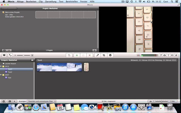 Altes iMovie - (Computer, Handy, Apple)