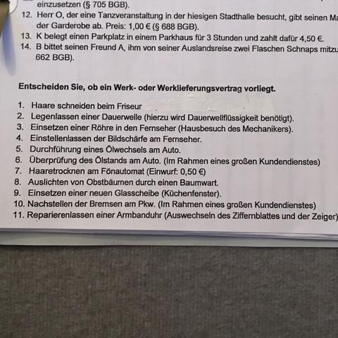 Werkvertrag Oder Werklieferungsvertrag Vertragsarten Schule
