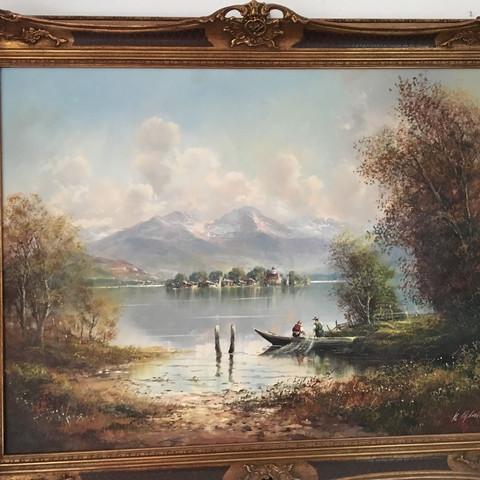 Wert des Gemäldes?