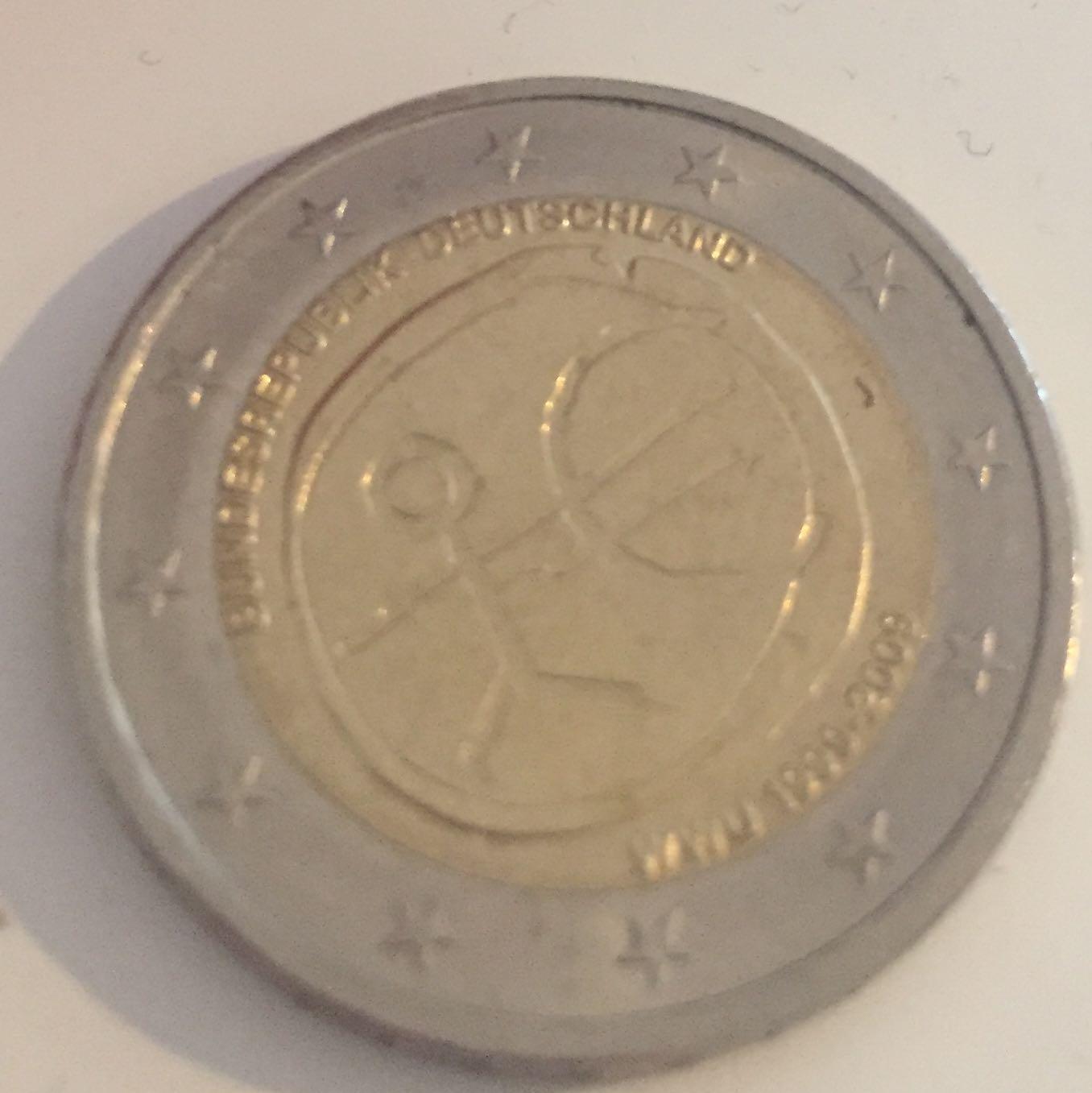 Wert Dieser 2 Münze Geld Europa Euro