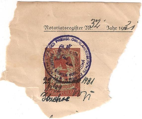Dies isr die marke . - (Briefmarken, Preussen)