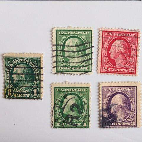 Briefmarken  - (Geld, USA, Wert)