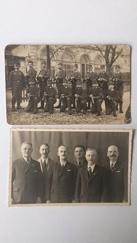 """Gruppenfotos """"Vorher-Nachher"""" - (2.Weltkrieg, Militaria)"""