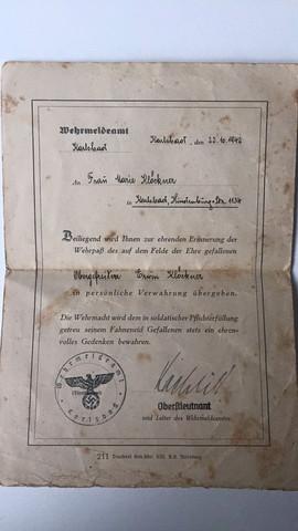 Dokument - (2.Weltkrieg, Militaria)