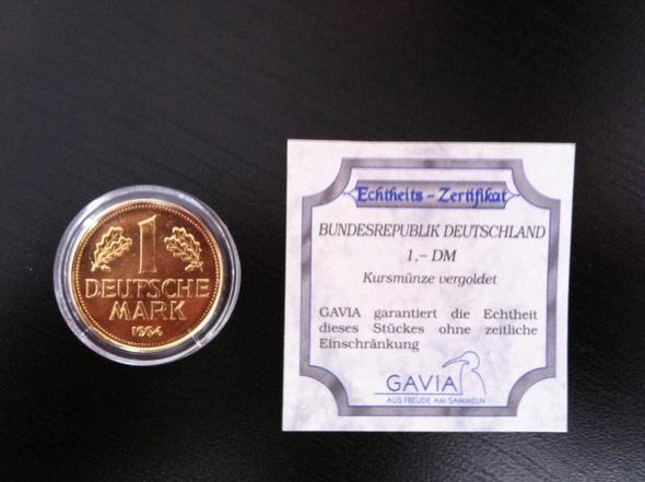 Wert Vergoldete Kursmünze 1 Dm 1994 Sammeln Münzen