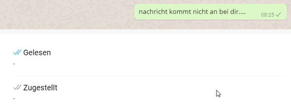Whatsapp Nachricht Nicht Zugestellt Obwohl Online Bei