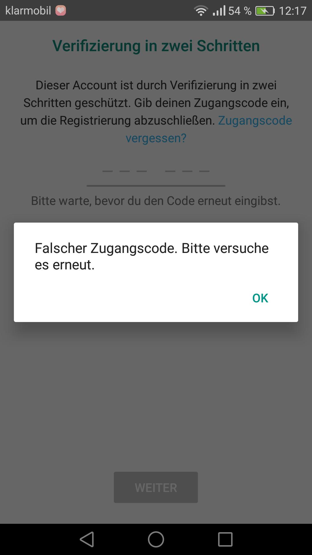 Whatsapp Verifizierung Geht Nicht