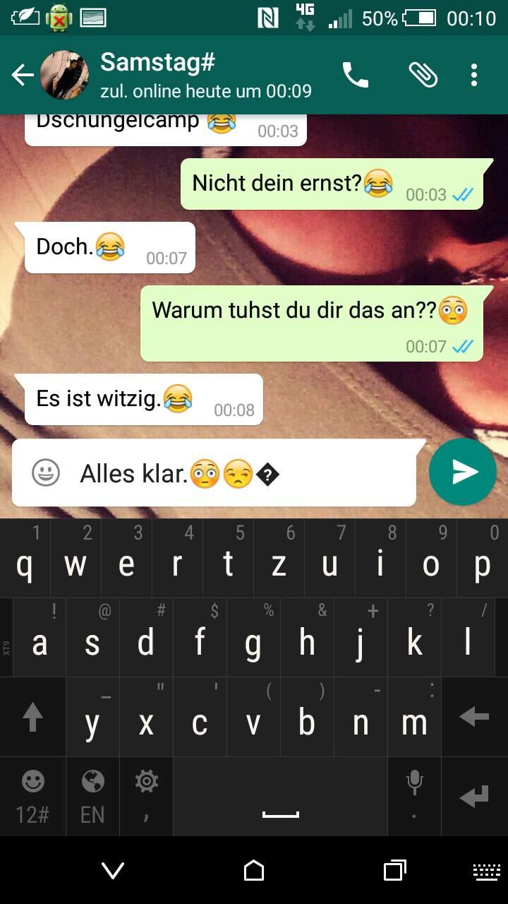 Mit smiley fragezeichen kästchen Bei Whatsapp