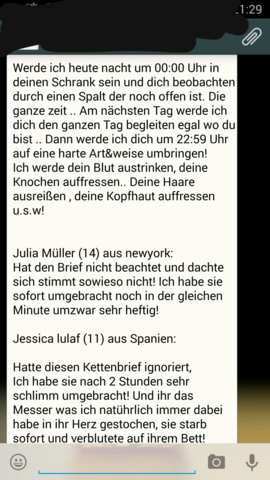 WhatsApp  - (WhatsApp, Kettenbrief)
