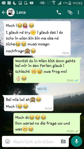 der Chat - (WhatsApp, Affensmiley)