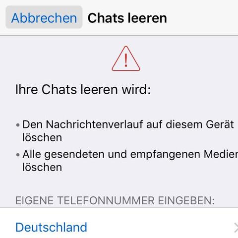 Whatsapp: alle Chats leeren, Bilder behalten, geht das (iPhone ...