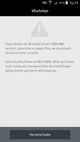 Das ist die Fehlermeldung - (Handy, WhatsApp)