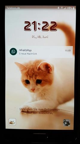 Whatsapp Auf Sperrbildschirm 1 Neue Nachricht Samsung Android