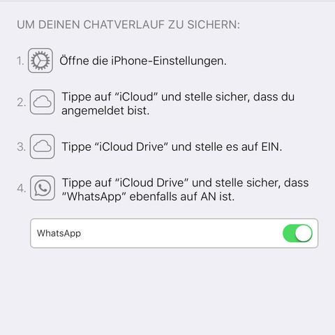 Habe ich alles schon erledigt... - (iPhone, WhatsApp, iTunes)