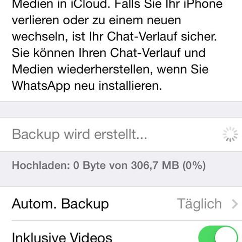 Bei dem Backup wird hergestellt.  - (iPhone 4, IPhone 6)