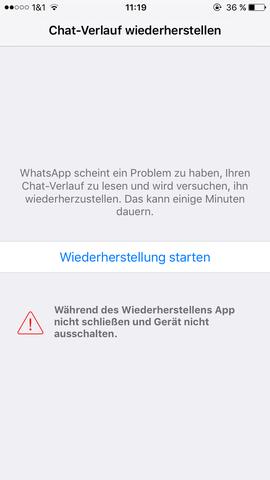 wie kann ich gelöschte nachrichten bei whatsapp wiederherstellen iphone
