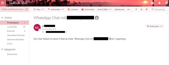 Email die ich auf dem PC angezeigt bekomme - (Computer, Datei, Email)