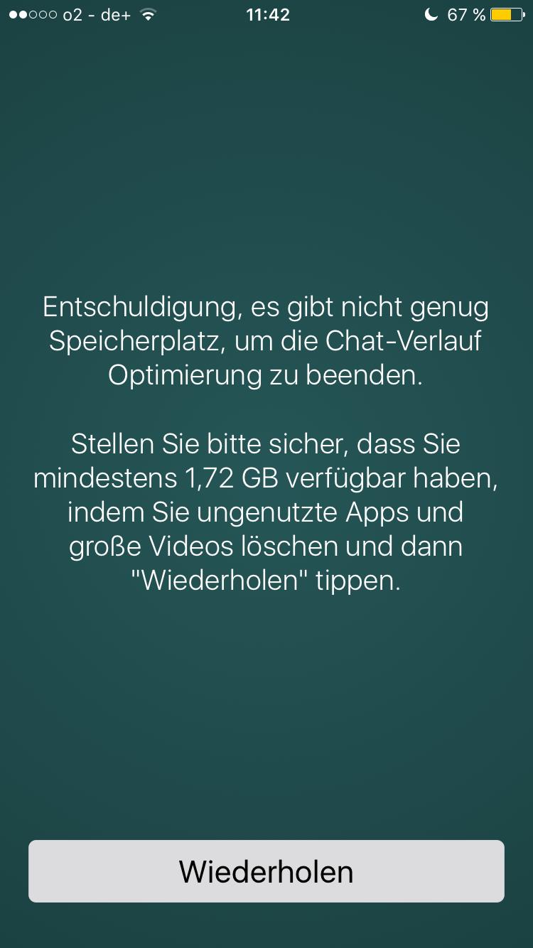 Whatsapp Probleme