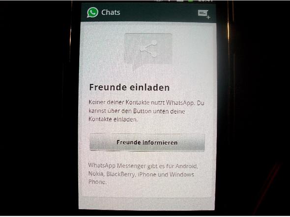 whatsapp freunde suchen? (whats app, kontaktliste), Einladung
