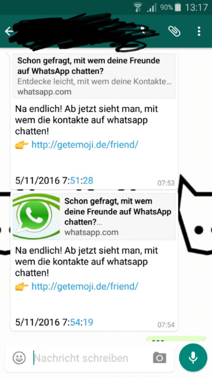 Whatsapp Virus Nachricht