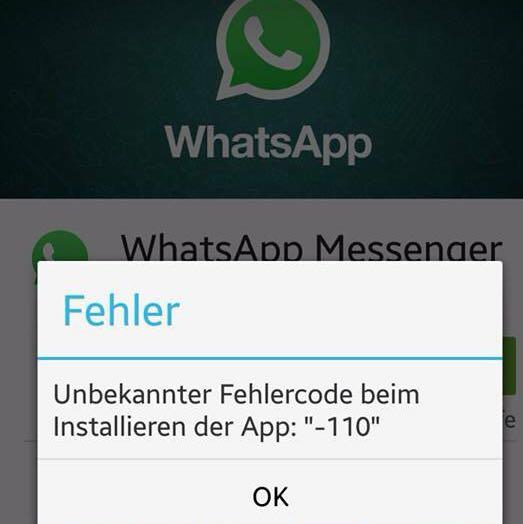 whatsapp fehlercode -11