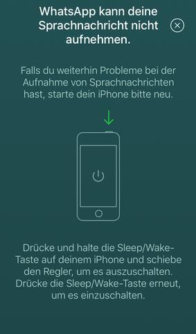 whatsapp sprachnachrichten nicht