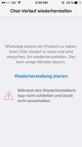 Und danach geht's nicht weiter - (iPhone, WhatsApp)